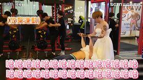 穿婚紗上健身房惡整路人 裙擺一放意外爆出驚人內幕