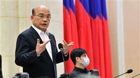 行政院26日召開防疫措施解禁會議。(圖/行政院提供)