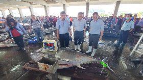 陳時中加持 東港黑鮪魚拍賣價揚