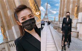 謝金燕設計「質感黑」蕾絲口罩。(圖/翻攝自IG)