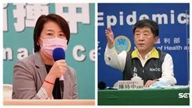 台北市副市長黃珊珊,中央流行疫情指揮中心指揮官陳時中。(組合圖/資料照)