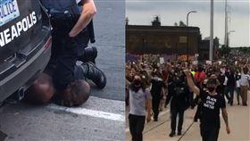 影/美警殺害無辜黑人 市民氣炸上街 美國,種族歧視,執法不當,壓制,窒息,黑人,George Floyd 翻攝自推特