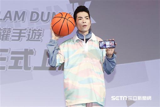 蕭敬騰接下「灌籃高手SLAM DUNK」正版授權手遊活動大使。(圖/記者林聖凱攝影)