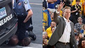 警壓制黑人致死 柯爾怒轟:這是謀殺 美國,種族歧視,執法不當,壓制,窒息,黑人,George Floyd,Steve Kerr 翻攝自推特