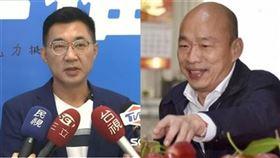 ▲江啟臣重申力挺高雄市長韓國瑜(組合圖/資料照)