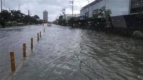 積水,大雨,岡山,高雄/臉書我是岡山人