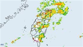 氣象局發大雷雨訊息(圖/氣象局)