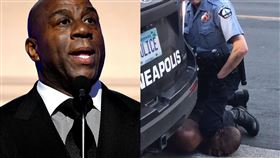 魔術強森轟美警:別再視黑人為動物! 美國,種族歧視,執法不當,壓制,窒息,黑人,George Floyd,Magic Johnson 翻攝自推特