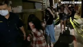 台北市萬華分局破獲2處鑽石大樓旁邊的應召站。(圖/翻攝畫面)