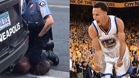 「黑人命不重要」 柯瑞痛心轟警察 美國,種族歧視,執法不當,壓制,窒息,黑人,George Floyd,Stephen Curry 翻攝自推特