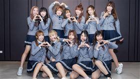 韓團L.C.G.勵齊女孩台灣區代表首度公開亮相。(圖/韓國Rainbow經紀公司提供)