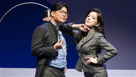 許瑋甯偕曾國城、王琄、姚坤君演出舞台劇《我的大老婆》。(圖/果陀劇場提供)