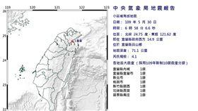 快訊/清晨地牛翻身!06:58宜蘭發生規模4.1地震