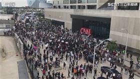 美國暴動CNN總部被黑人包圍(圖/AP授權)