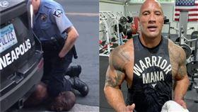 (圖/翻攝自推特、instagram)巨石強森,非裔,警察,壓脖
