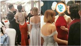 婚宴見「背殺新娘」 一轉身更驚人(圖/翻攝自微博)
