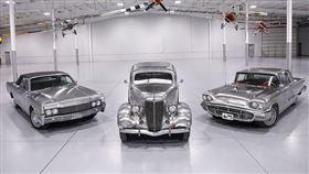 ▲不鏽鋼Lincoln Continental(左)、Tudor(中)、Thunderbird(右)。(圖/翻攝worldwideauctioneers網站)
