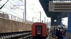 台鐵莒光號事故!80歲男跌落浮洲站鐵軌 遭撞當場死亡(民眾提供