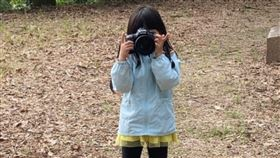 女兒,爸爸,拍照,模糊,特效,對焦