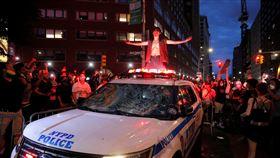 紐約州暴力抗議活動。(圖/路透社/達志影像)