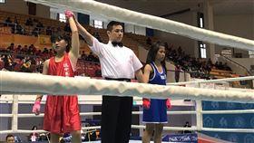 瑞芳國中柯孔晶參加全國總統盃拳擊錦標賽41kg榮獲第二名(圖/瑞芳國中提供)