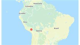 祕魯發生強震(圖/翻攝自中央氣象局地震偵測中心)