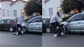 NBA/JR史密斯痛毆白人偷車賊 NBA,J.R. Smith,偷車,George Floyd 翻攝自YouTube TMZSports