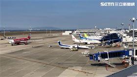 桃園機場,停機坪,記者陳弋攝影