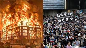 美國示威暴動、香港反送中