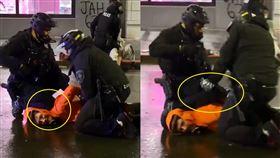 警又「膝壓脖」民眾 同事超怕秒移開 美國,種族歧視,執法不當,壓制,窒息,黑人,George Floyd 翻攝自推特