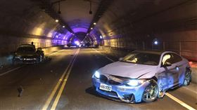 新北基平隧道,車禍,BMW,平溪,瑞芳 警方提供