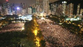 ▲2019年香港的六四燭光守夜。(圖/翻攝自推特)