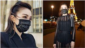 中衛口罩,謝金燕姊姊蕾絲口罩,翻攝自臉書粉專