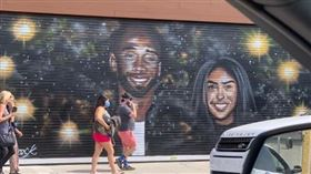 LA市容慘遭破壞 唯獨柯比毫髮無損 NBA,Kobe Bryant,壁畫,George Floyd 翻攝自推特