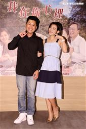 大愛劇場「我在你心裡」新戲演員黃迪揚、米可白。(記者邱榮吉/攝影)