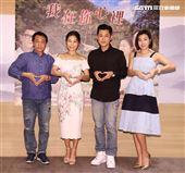 大愛劇場「我在你心裡」新戲演員游安順、方文琳、米可白、黃迪揚。(記者邱榮吉/攝影)