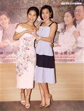 大愛劇場「我在你心裡」新戲演員方文琳、米可白。(記者邱榮吉/攝影)
