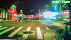 台北市李姓高中生騎車超速撞上左轉公車而亡。(圖/翻攝畫面)