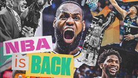 ▲NBA將在7月31日復賽。(圖/翻攝自ESPN推特)