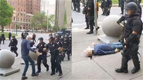 美警重推75歲老人!摔到頭破血流 美國,執法不當,George Floyd,紐約,水牛城,老人 翻攝自YouTube WBFO