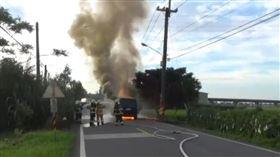 礁溪,對撞起火,火燒車,油箱破裂