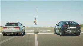 ▲Audi RS6 Avant對決Lamborghini Urus(圖/翻攝自Archie Hamilton Racing Youtube)