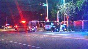 嘉義,救護車,車禍,自小客車(圖/翻攝畫面)