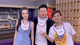 曾國城、許瑋甯近期合作舞台劇《我的大老婆》,兩人昨(5日)上Yahoo TV《佼心食堂》分享近期排戲點滴。圖/YAHOO TV提供