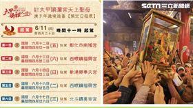 大甲鎮瀾宮 媽祖遶境日程表(圖/翻攝畫面)