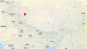 中印邊境談判無功而返,印度目前最在意的是中國在拉達克班公錯湖(紅標處)曾是印度控制下的地區增兵。(圖取自Google地圖google.com.tw/map)