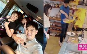 林志穎帶著老婆陳若儀和媽媽一起參加實境秀《婆婆和媽媽》。(圖/翻攝自微博)