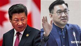 江啟臣、習近平、國民黨、共產黨、台灣、中國。(圖/資料照)