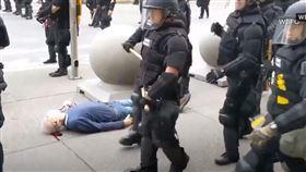 (圖/翻攝自CBC News YouTube)美國,老翁,川普,佛洛伊德