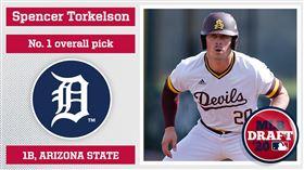 ▲底特律老虎選擇托克森(Spencer Torkelson)當選秀狀元。(圖/翻攝自Minor League Baseball推特)